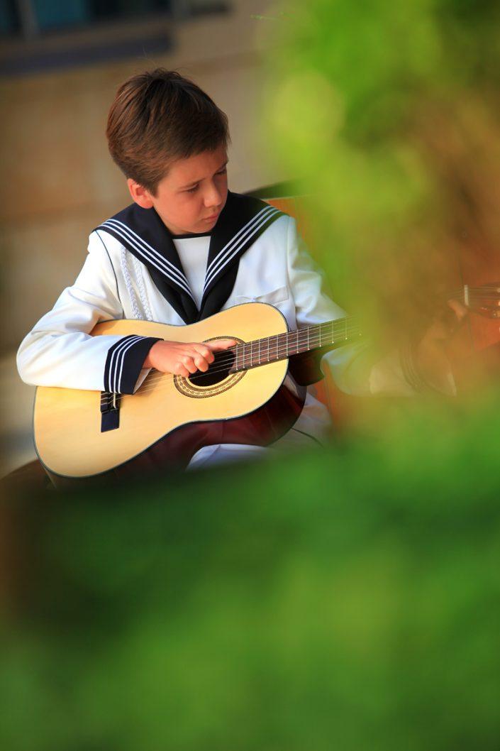 Fotografía artística de comunión de chico